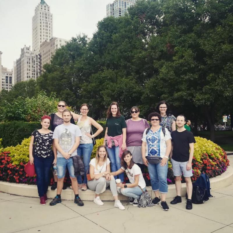Die Studierendengruppe in Chicago