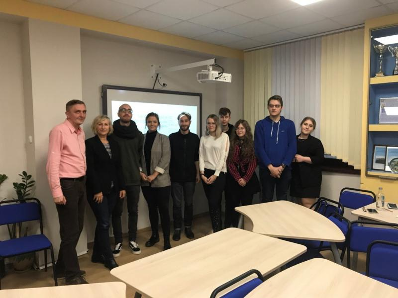 Die deutsche und belarussische Studierendengruppe